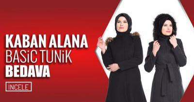 Sefamerve'den Kaban Alana Basic Tunik Bedava
