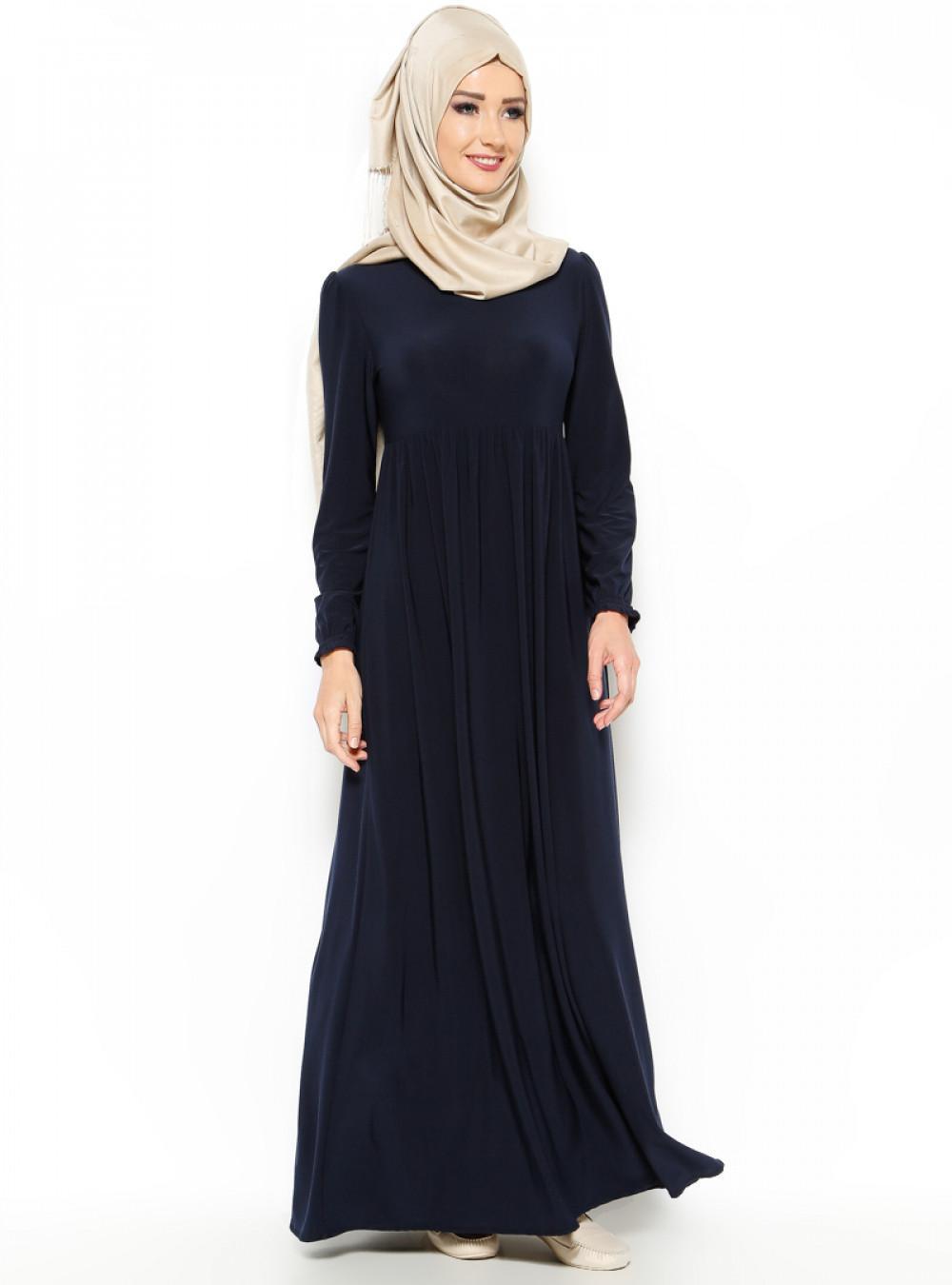 d692b22cbc603 Topless Robadan Lacivert Elbise | Ehl-i Tesettür