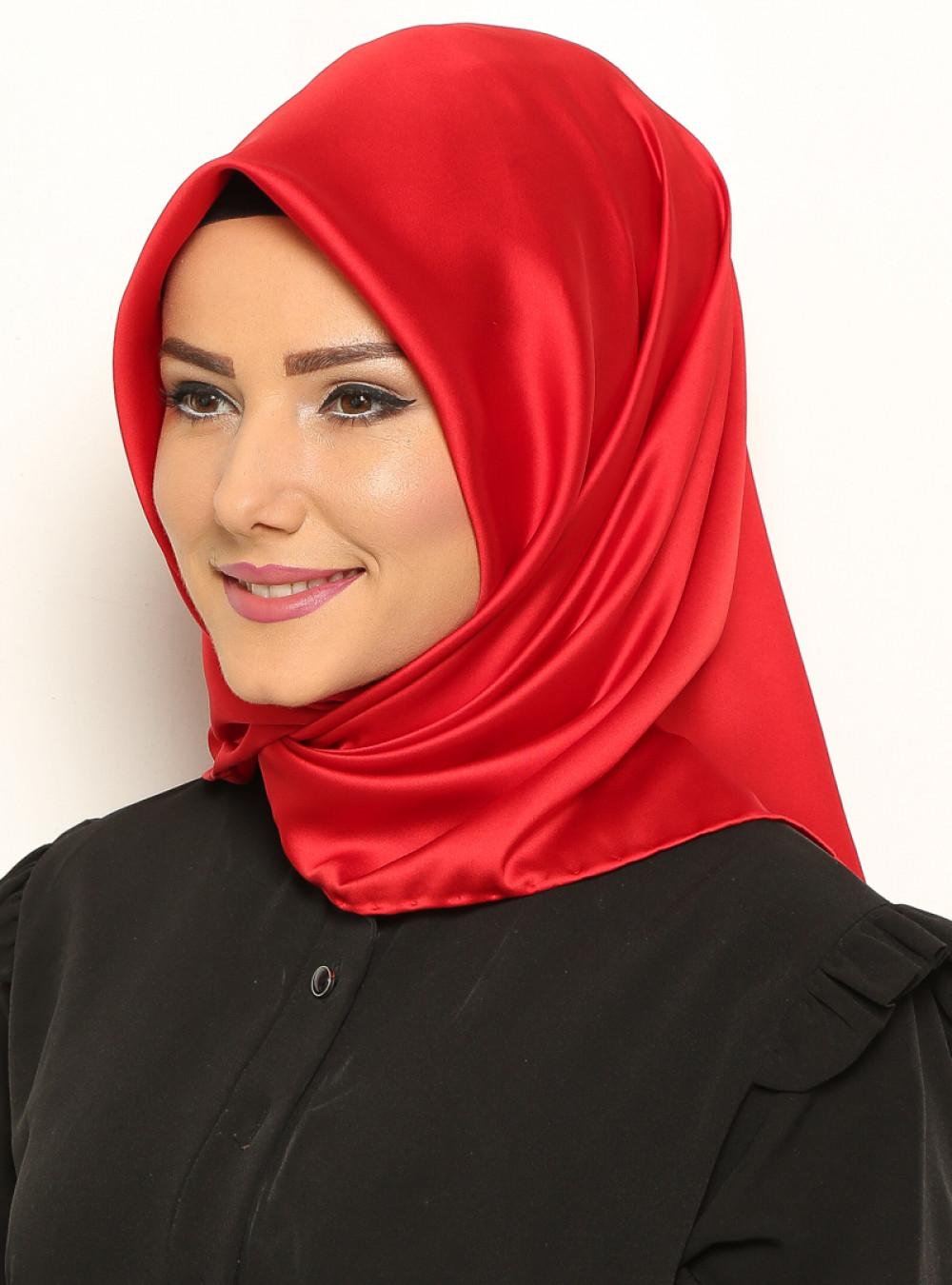 Mısırlı Kırmızı Düz Royal Eşarp