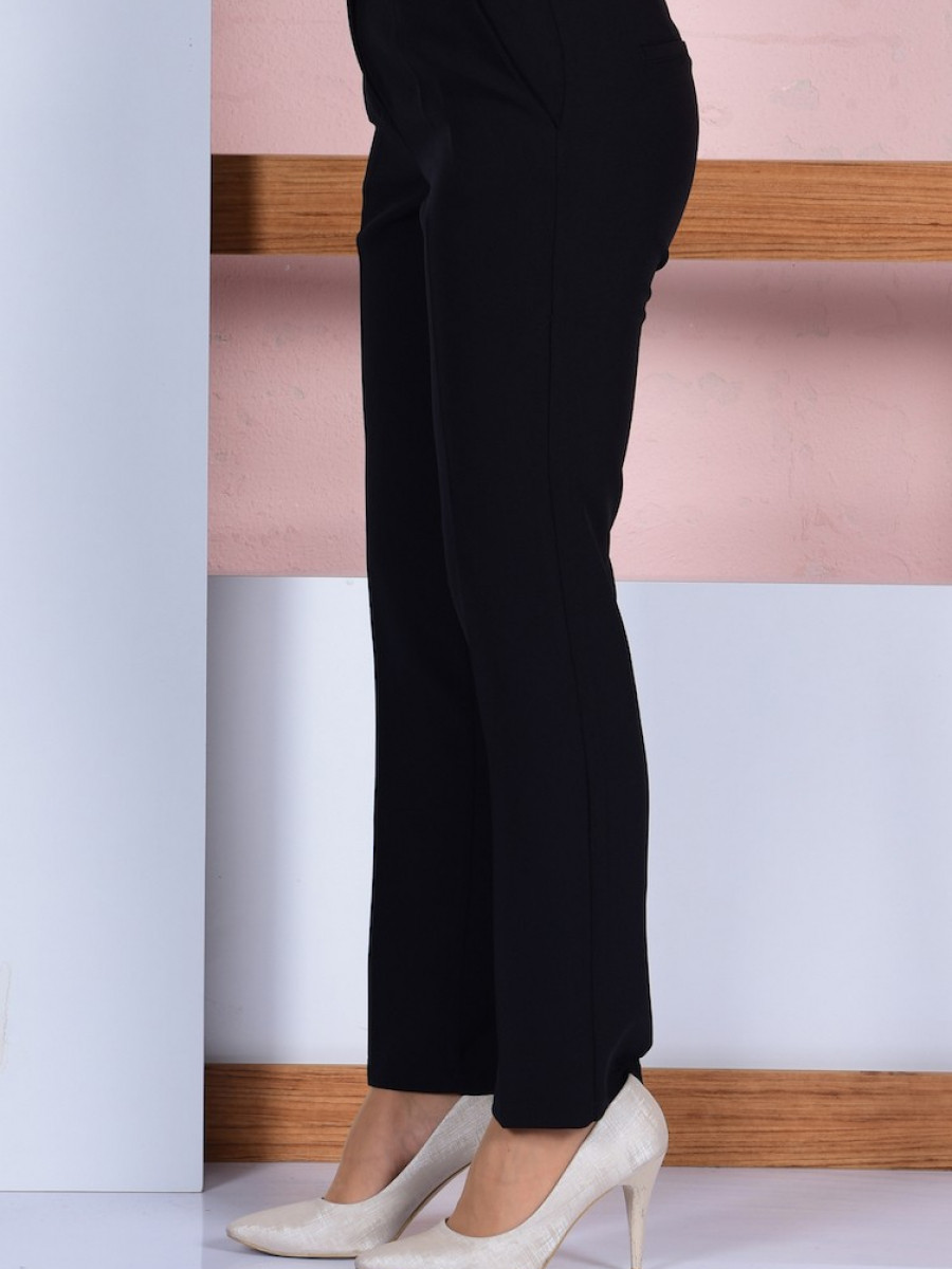 Sefamerve Düz Paça Siyah Pantolon