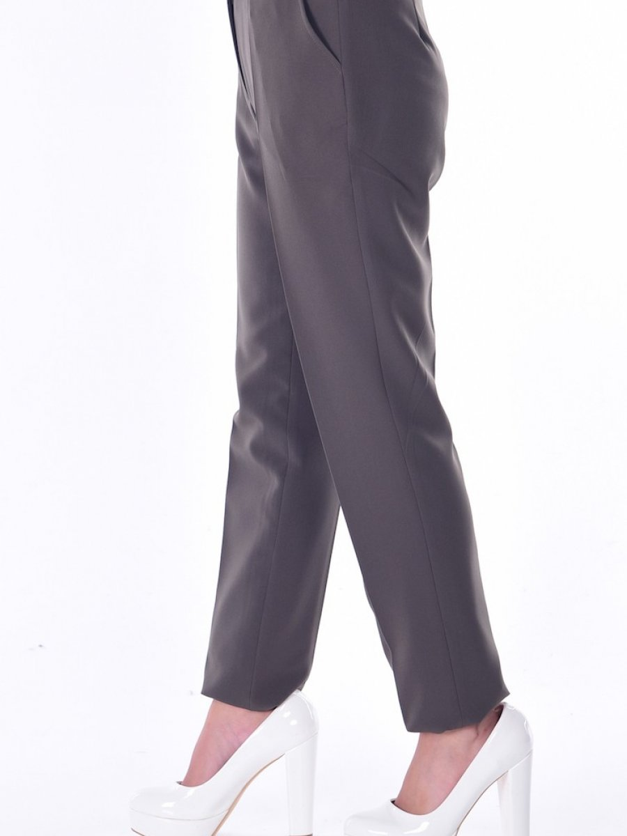 Sefamerve Cepli Düz Paça Haki Yeşil Pantolon