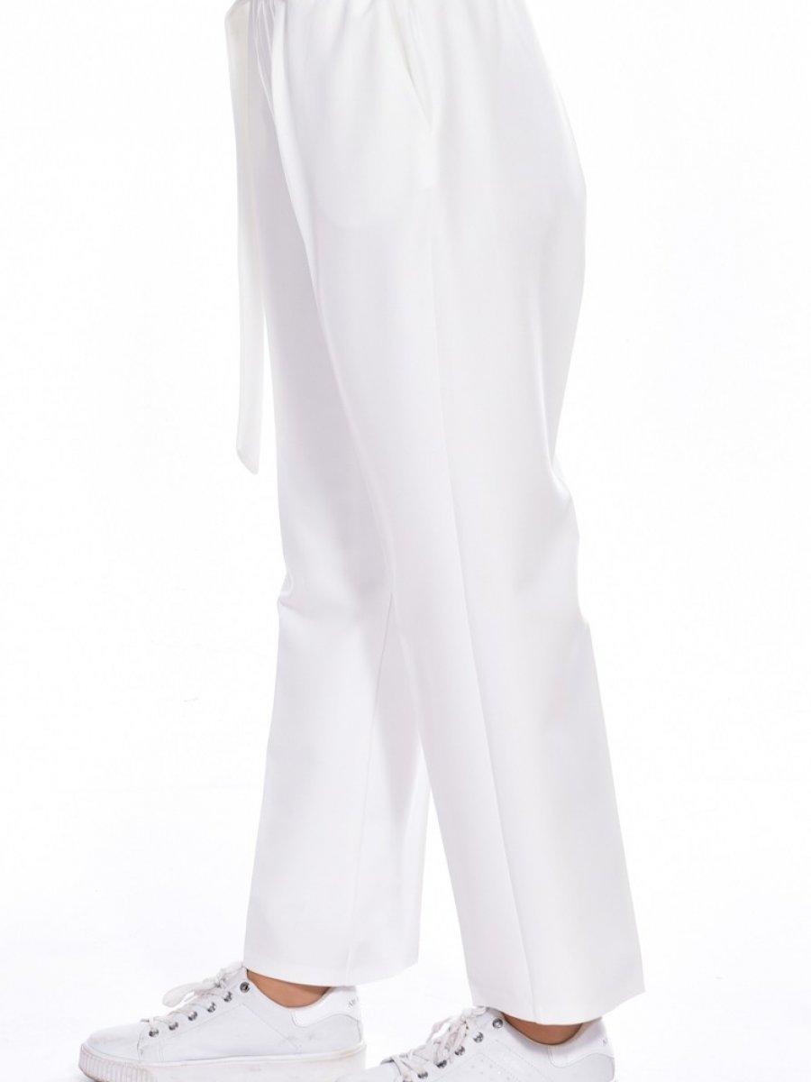 Sefamerve Lastikli Kuşaklı Beyaz Pantolon