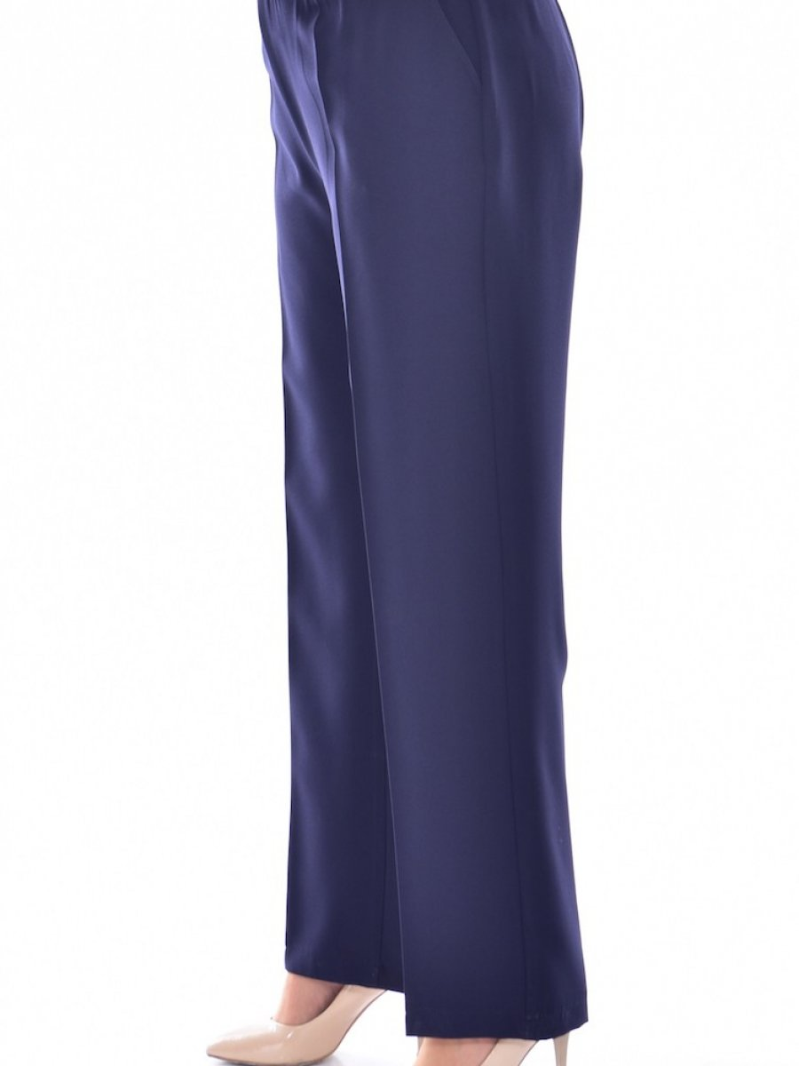 Sefamerve Büyük Beden Lastikli Cepli Lacivert Pantolon
