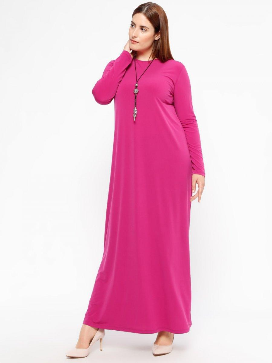 960d0573b646a Armine Düz Renkli Mürdüm Elbise | Ehl-i Tesettür