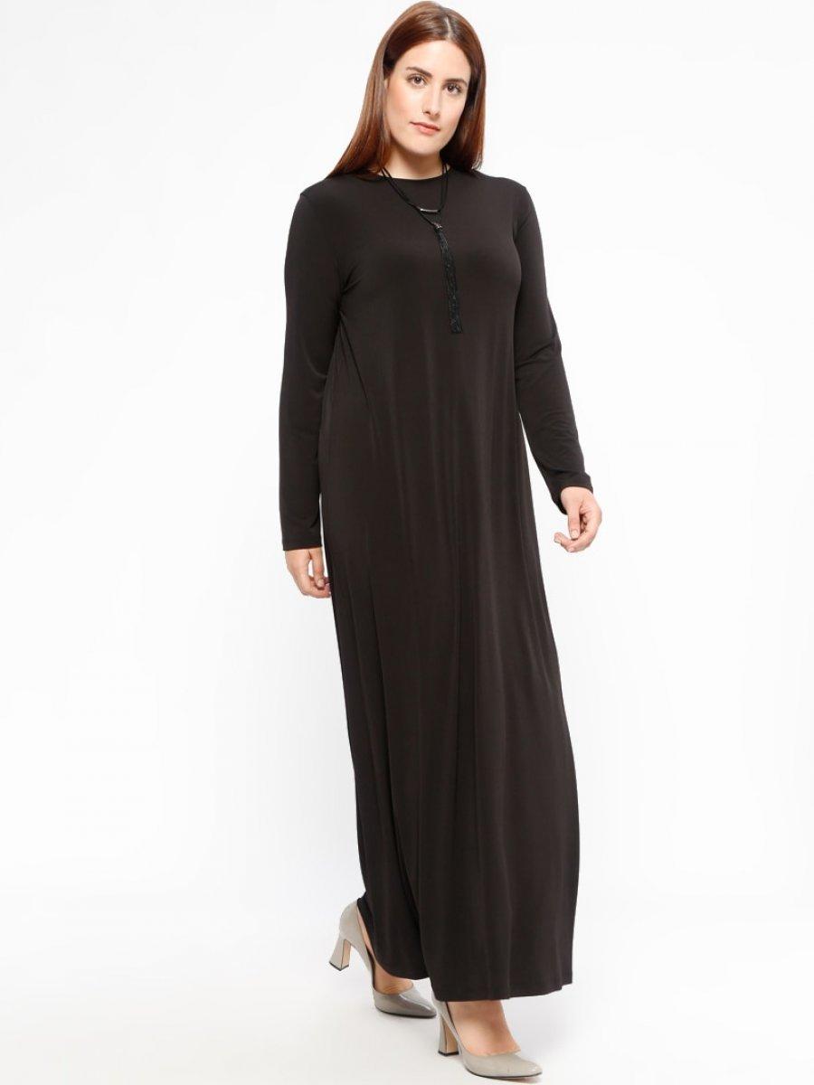 c4b67ba7acec9 Armine Düz Renkli Siyah Elbise | Ehl-i Tesettür