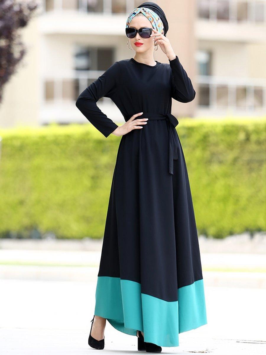 a6d91e4937cf0 Myzen Rüya Yeşil Elbise | Ehl-i Tesettür