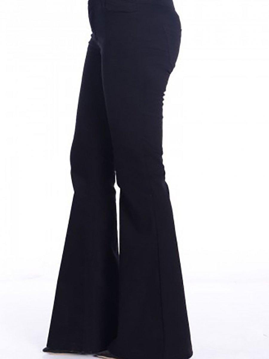 Sefamerve İspanyol Paça Siyah Pantolon