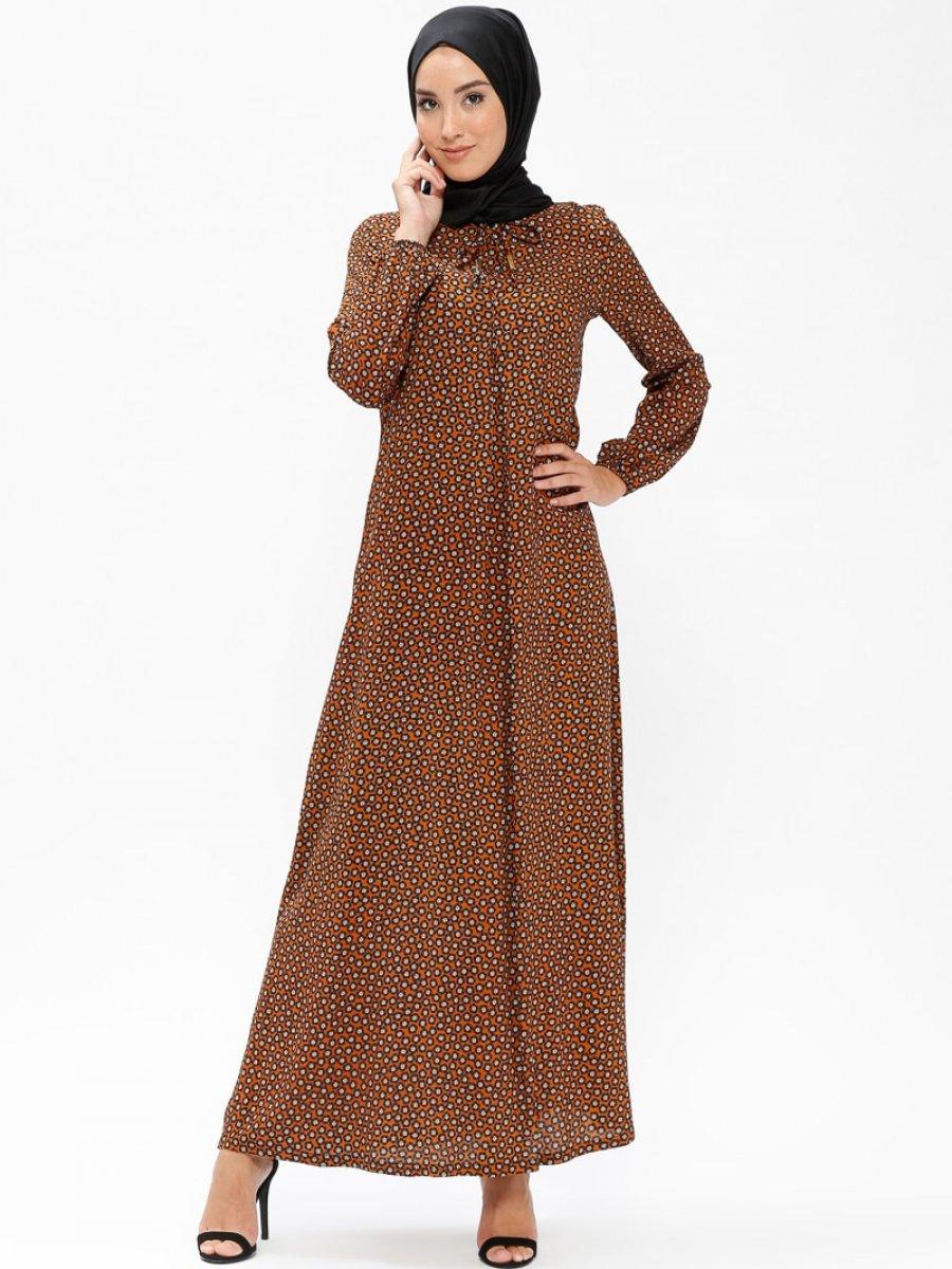 Ginezza Desenli Hardal Elbise