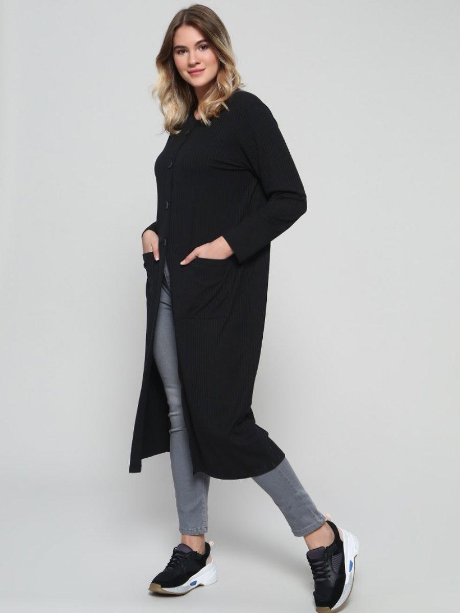 Alia Düğme Detaylı Siyah Tunik