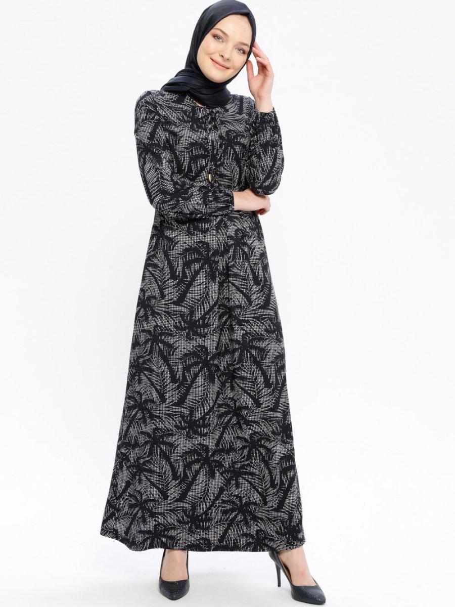 Ginezza Desenli Lacivert Elbise