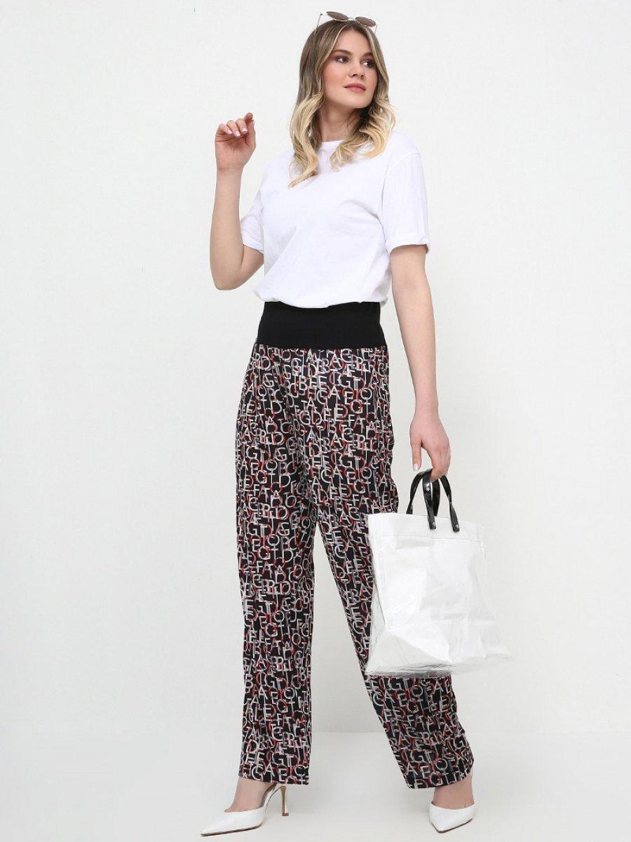Alia Desenli Siyah Pantolon