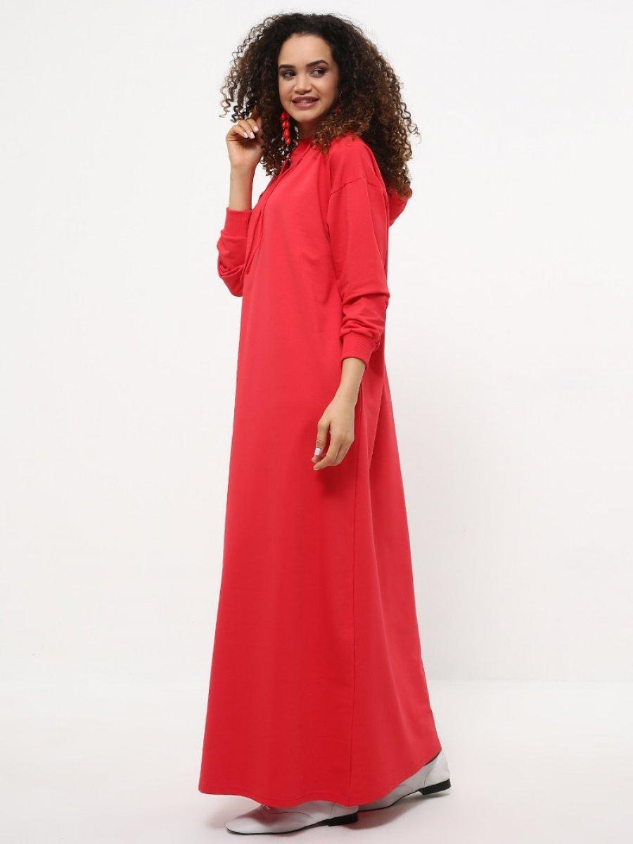 349d30984c5ad Everyday Basic Kapüşonlu Spor Kırmızı Elbise | Ehl-i Tesettür