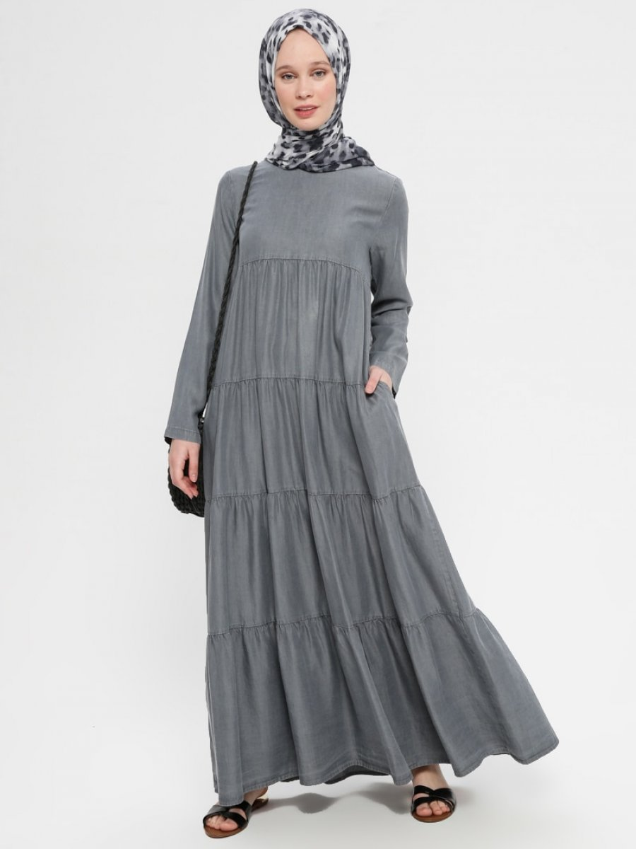 Neways Tensel Kot Gri Elbise