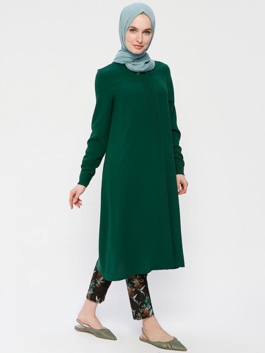 Alesya By Tuğba Çıtçıtlı Yeşil Tunik