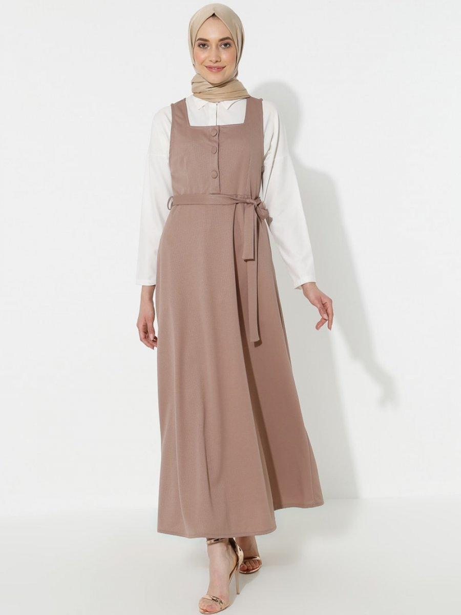 Topless Jile Vizon Elbise