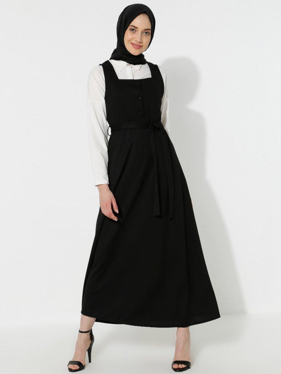 Topless Jile Siyah Elbise