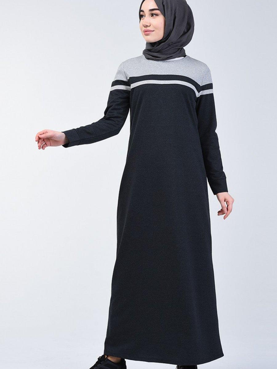 Sefamerve Garnili Spor Füme Elbise