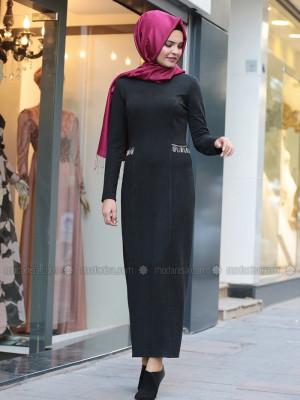 Defne Elbise&Hırka Siyah Takım
