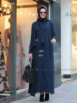 Defne Elbise&Hırka Lacivert Takım