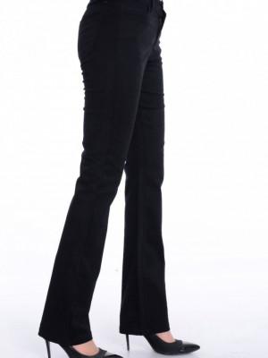 Likralı Boru Paça Siyah Pantolon