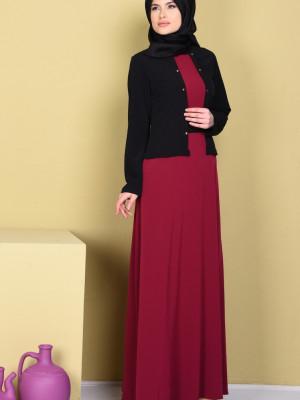 Ceketli Siyah Elbise