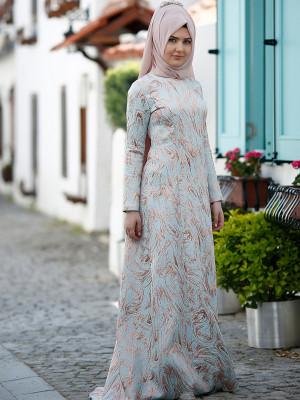 Hale Mavi Abiye Elbise
