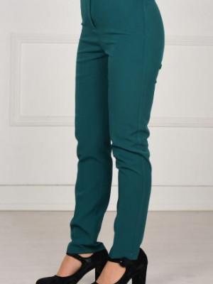 Düz Paça Zümrüt Yeşil Pantolon