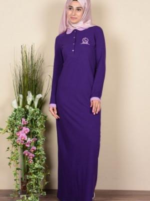 Polo Yaka Mor Elbise