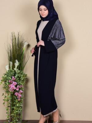 Elbise Ferace İkili Lacivert Takım