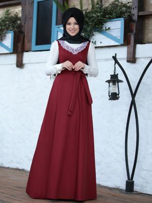 Güler Bordo Elbise