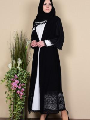 Elbise Ferace İkili Beyaz Takım