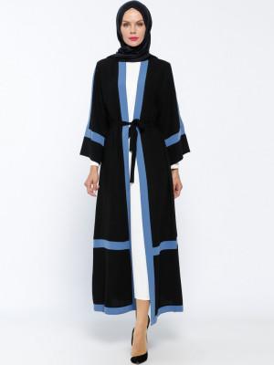 Elbise&Ferace İkili Siyah İndigo Takım