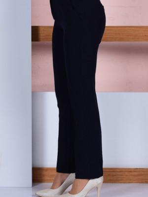 Düz Paça Lacivert Pantolon