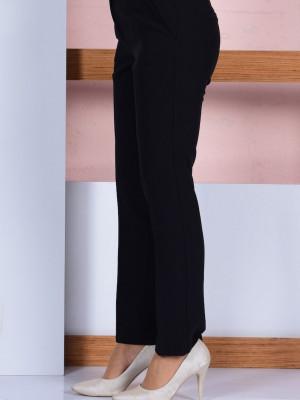 Düz Paça Siyah Pantolon