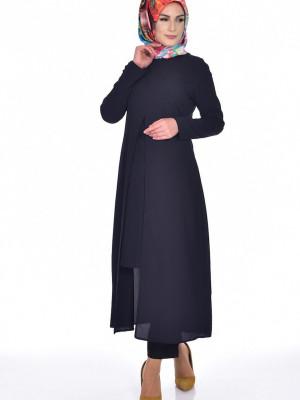 Uzun Lacivert Tunik