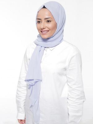 Bebe Mavi Krep Eşarp