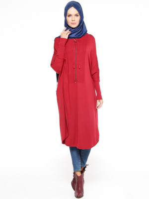Triko Bordo Tunik