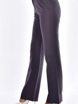 Likralı Yandan Cepli Füme Pantolon