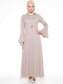 Kolyeli Vizon Elbise