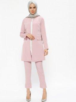 Ceket&Pantolon İkili Gül Kurusu Takım