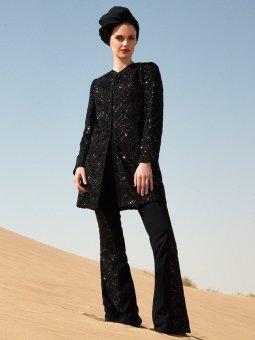Siyah Payet İşleme Detaylı Pantolon